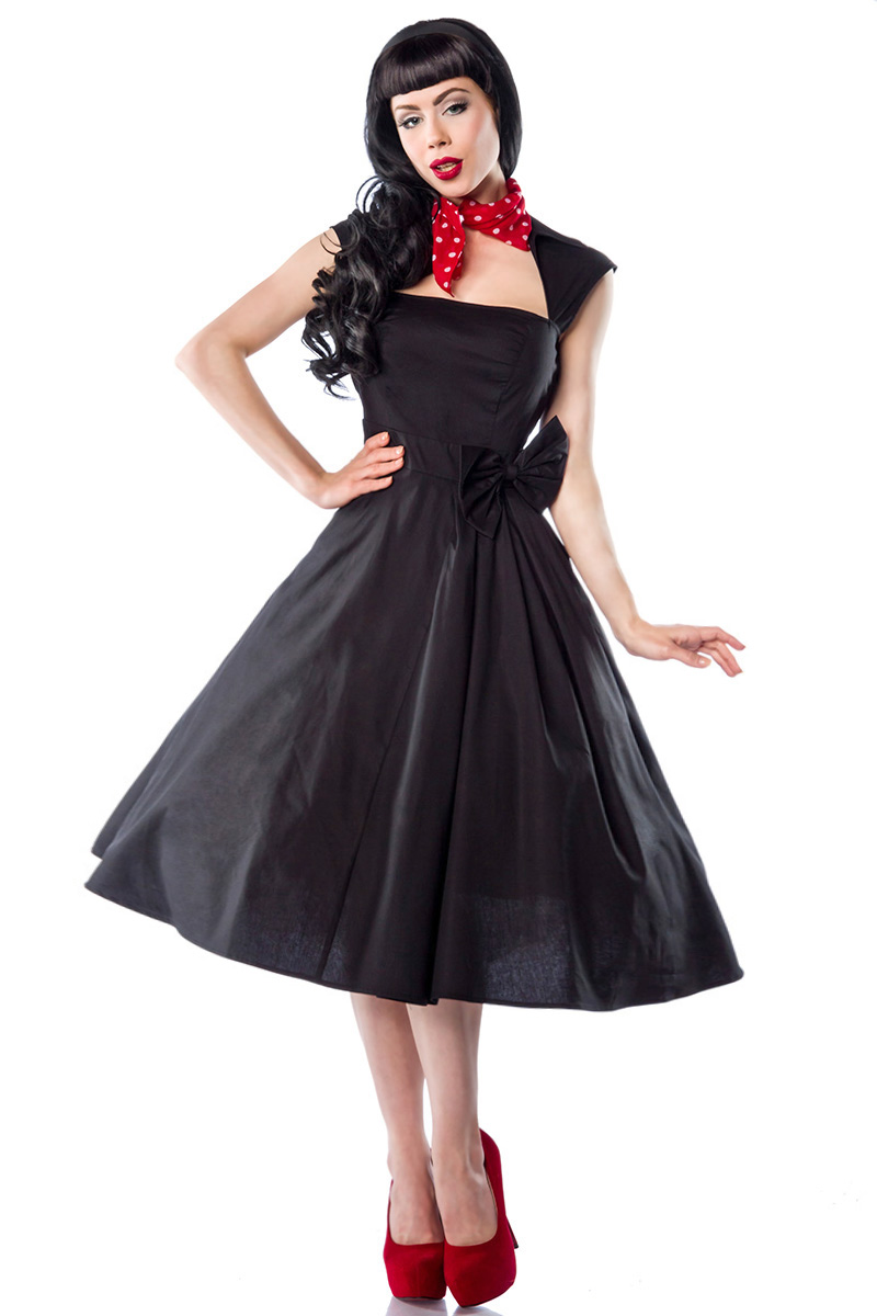 rockabilly kleid hochwertiges kleid im 50er jahre stil schwarz kleid damen ebay. Black Bedroom Furniture Sets. Home Design Ideas